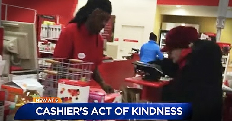 Woman Posts Target Cashier's Act Of Kindness To Elderly Woman On Facebook