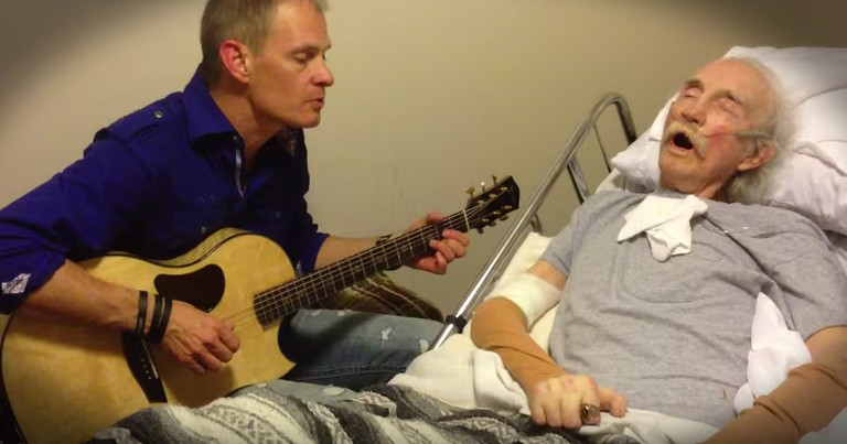 Musician Sings The First Song He Ever Played For His Dying Father Who Supported Him Through It All