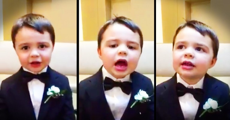 Precious Ring Bearer Is Doing His Bible Verse ABCs And My Heart Is A Puddle