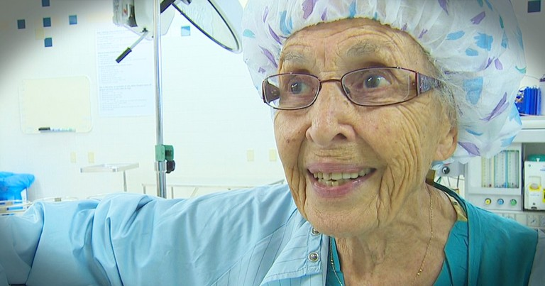 91-Year-Old Nurse Is Runs Circles Around Everybody And Inspires