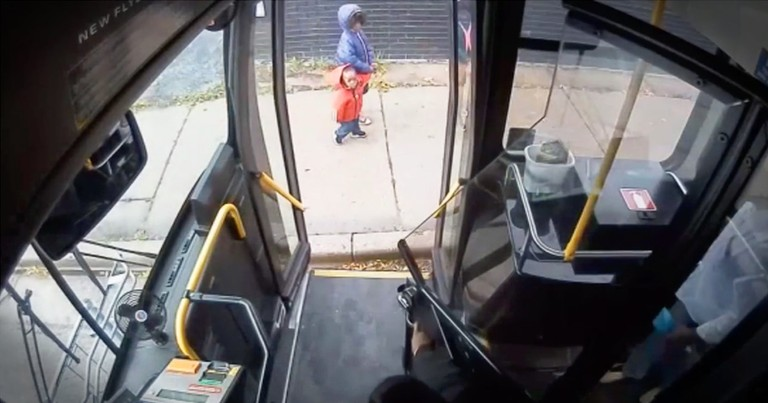 Savvy Bus Driver Saves 2 Little Children From A Dangerous Situation