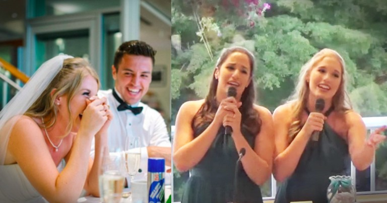 Bride's Sisters Completely Nailed Their Disney Medley Wedding Speech