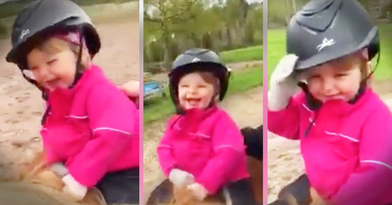 Little Girl's Pony Ride Is The Most Joyful Thing You'll See Today