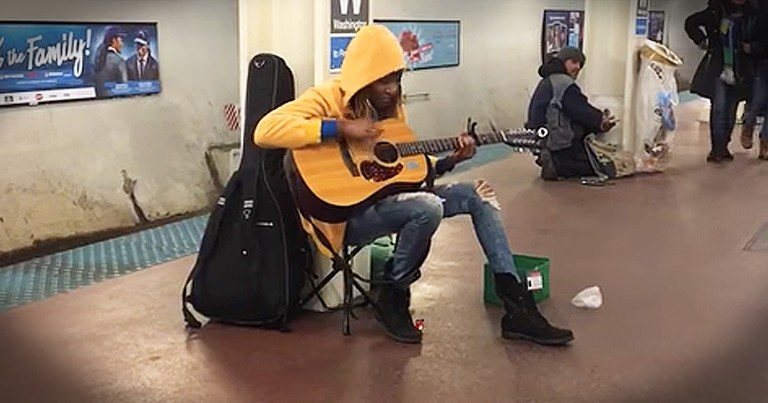 Subway Performer Belts Out Amazing Rendition Of 'Landslide'