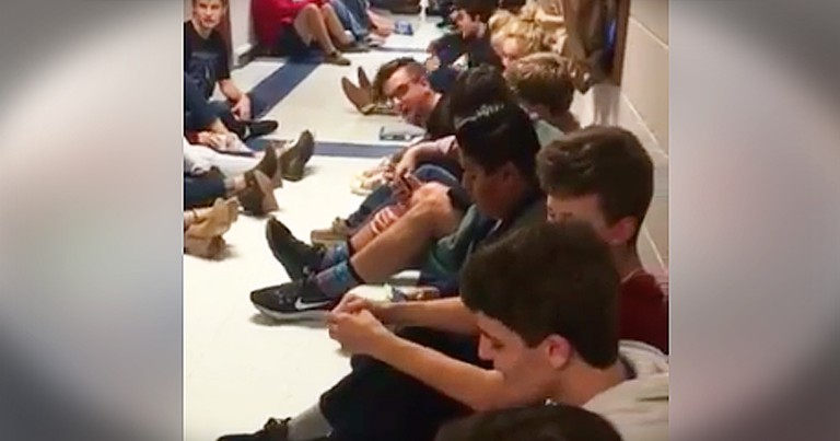 Students Seeking Shelter From Tornado Sing 'Mary Did You Know'