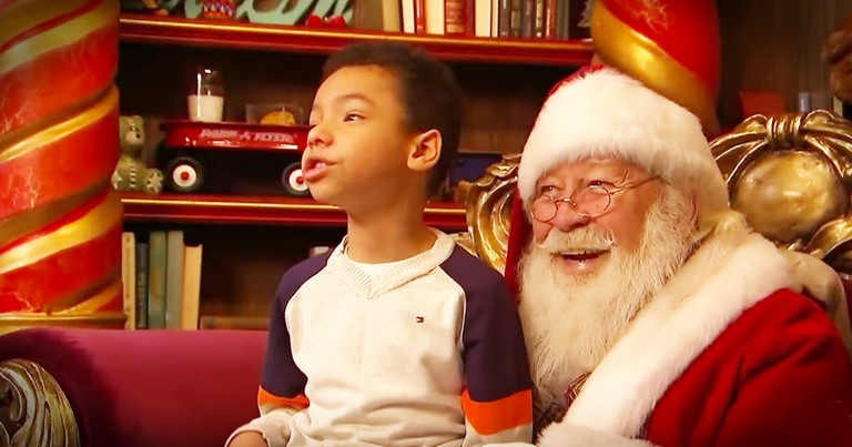Santa Offers A Special Meeting For Kids With Autism