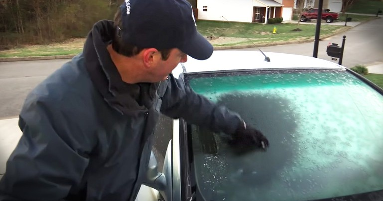 Weatherman Finds A Clever Solution To Defrost Your Car Window
