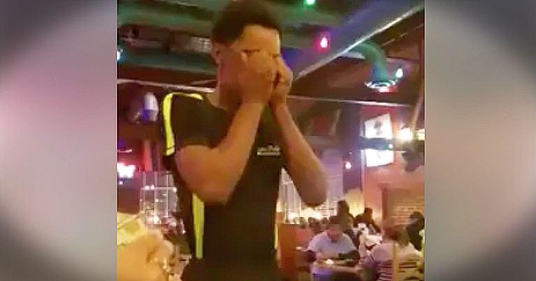 God Told Him To Pour Love On His Waiter And The Tears Are Flowing