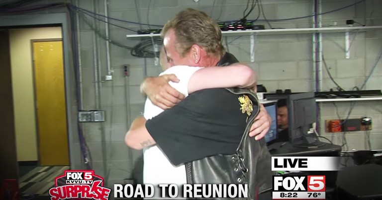 Surprise Squad Helps A Struggling Dad Reunite With His Son After 28 Years