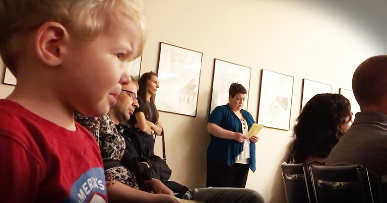 2-year-old Little Brother Gets Adorably Emotional Watching His Sister Perform