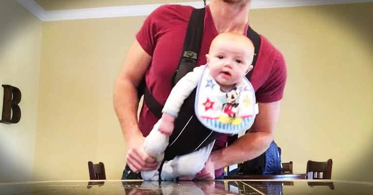 Dad Home Alone With The Baby And Some Serious Tunes Are Too Cute