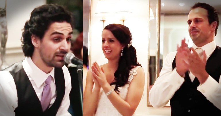 Bride And Groom Left In Tears As His Brother Sings The Most Touching Best Man Speech