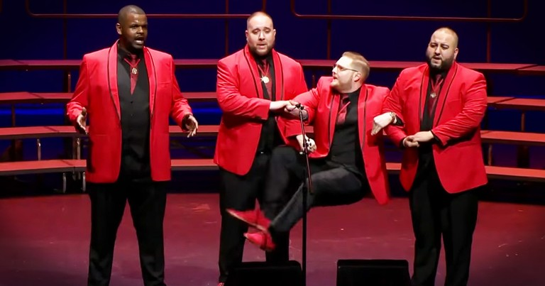 Don't Miss This Hilarious And Incredibly Impressive Barbershop Cover Of 'Duke Of Earl'