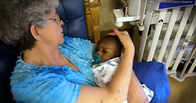 Retired Women Cuddle Babies Who Got A Rough Start In Life