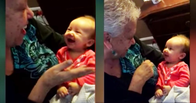 Watch This Sweet Deaf Baby Giggle And Coo As Her Grandmother Signs Her Love