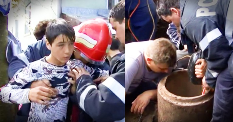 Young Boy Rescues Toddler Who Fell Down A Pipe