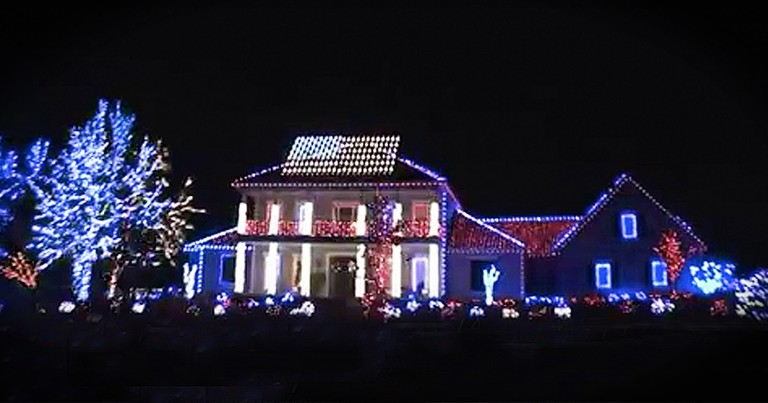 Patriotic Light Display Honors Our Fallen Soldiers