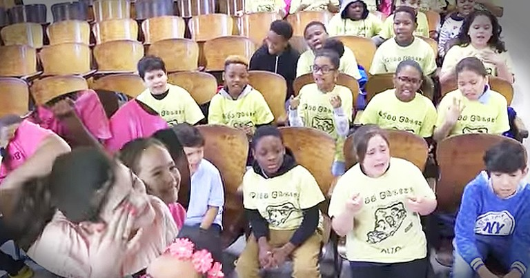 Children's Chorus Sings A 'Fight Song' For Sick Fellow Student