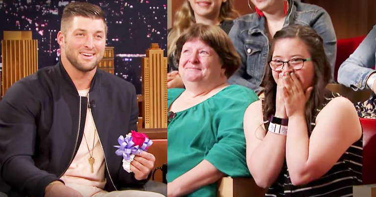 Tim Tebow Invites Tonight Show Guest Onto Stage for Special Dance