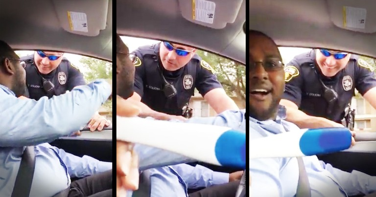 Cop Pulls Couple Over Because Their Child Isn't In The Carseat, But The Driver Swears There Is No Ba