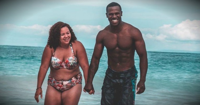 Couple's Beach Photo Attacked, Then Wife Responds To Body-Shamers