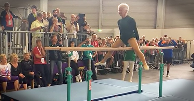 91-Year-Old Gymnast Still Competes With Crazy Routine