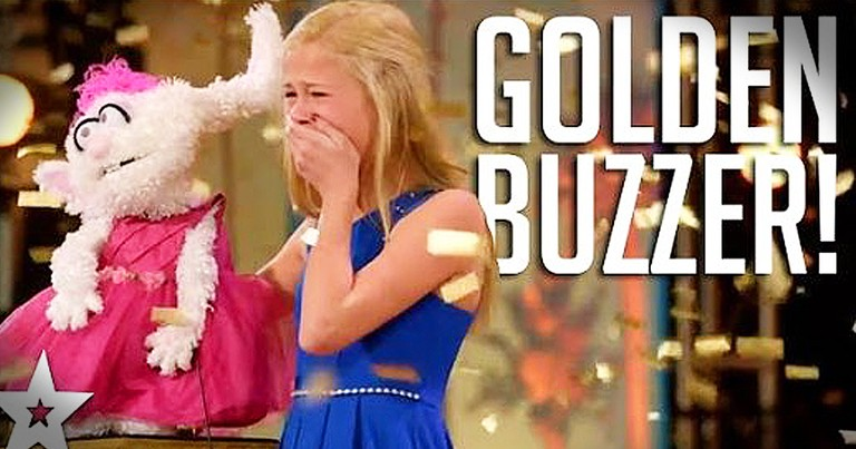 Singing 12-Year-Old Ventriloquist Earns The Golden Buzzer