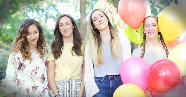 The Gardiner Sisters Put A Spin On 'Walking On Sunshine'
