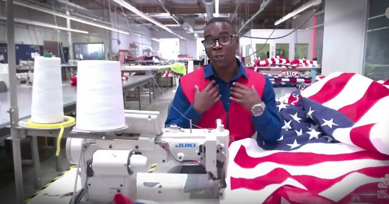 Man Makes Flags To Honor His Late Veteran Father