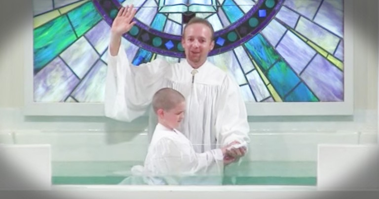Boy's Baptism Goes Hilariously Wrong
