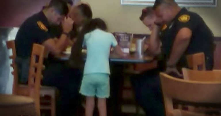 8-Year-Old Girl Asks To Pray With Police Officers