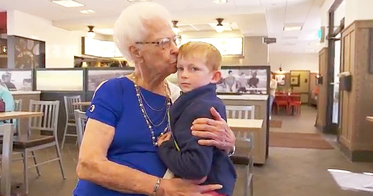 Little Boy Forms Friendship With Grandma At Bingo Night