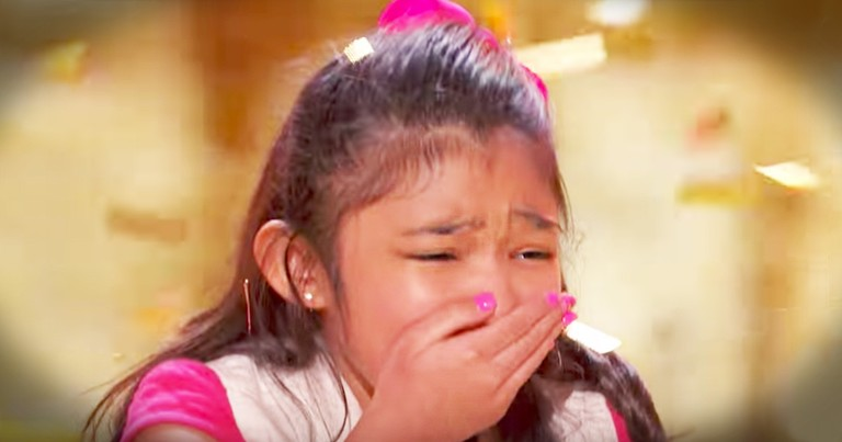 9-Year-Old Angelica Hale Gets Golden Buzzer