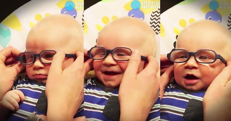 Baby Sees His Mom Clearly For The First Time