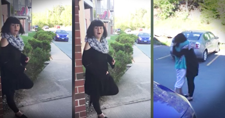 Teenager Has Sweet Reaction To A Visit From Grandma