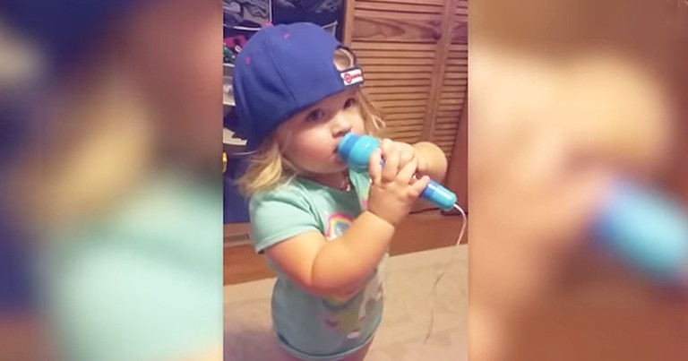 Adorable 2-Year-Old Sings The National Anthem