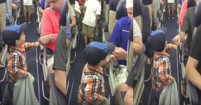 Adorable 2-Year-Old Greets Passengers With Fist Bumps