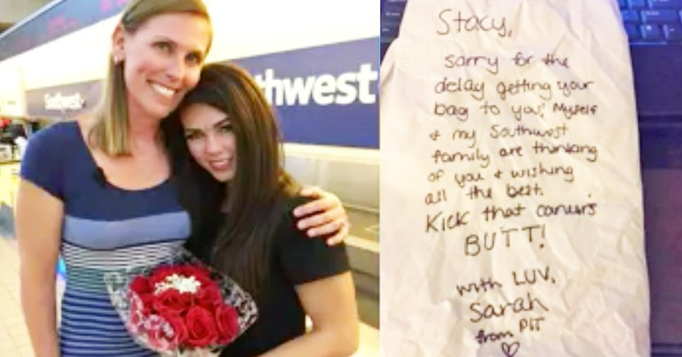 Airline Employee Personally Delivers Lost Luggage To Cancer Patient