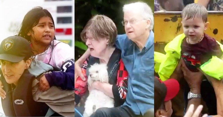 Cameras Beautifully Capture Good Samaritans Saving Hurricane Victims