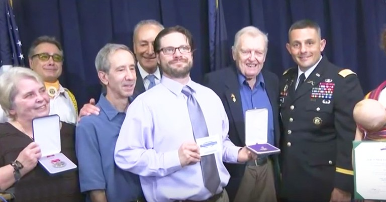 Veteran's Family Reunited With Purple Heart Lost 50 Years Ago