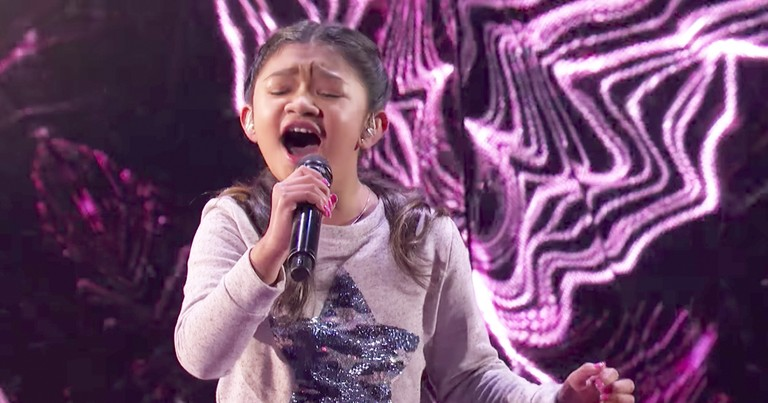 Talented 10-Year-Old Performance Of 'Without You' Earns Standing Ovation