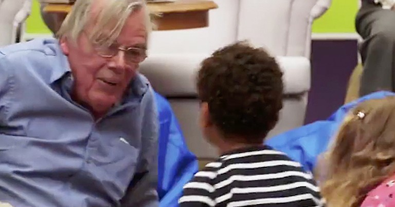 Preschooler's Bring Smiles To Elderly People During Nursing Home Visit