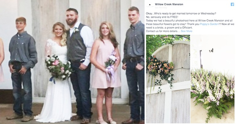 Venue Gives Deserving Couple Free Impromptu Wedding