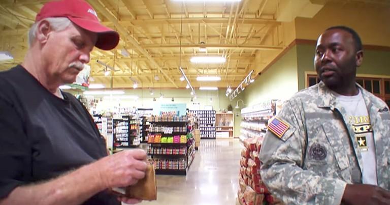 Strangers Help Veteran Pay For Groceries On Hidden Camera Show