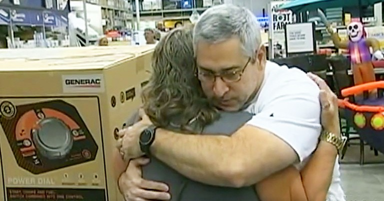 Kind Stranger Gives Last Generator In Store To Tearful Woman Before Storm