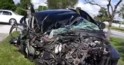 Man is Thankful and Lucky to be Alive After an Awful Car Crash
