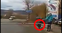 Baby in a Crib Rolls Straight Toward Traffic and a Hero Saves Him
