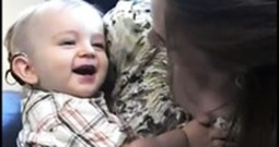 Baby Hears His Parents for the First Time and Gives a Big Smile