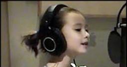 Precious Angel Rhema Marvanne Praises God by Singing I Love the Lord