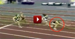 Christian Athlete Takes a Fall But Still Wins the Race